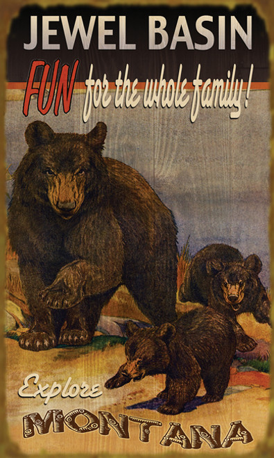 Personalized Bear Family Sign
