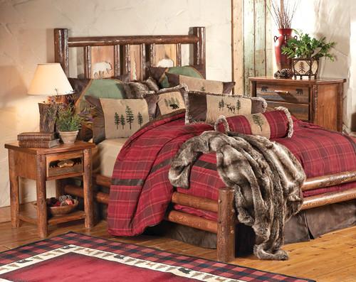 Pine Crest Bear Log Bedroom Furniture Collection