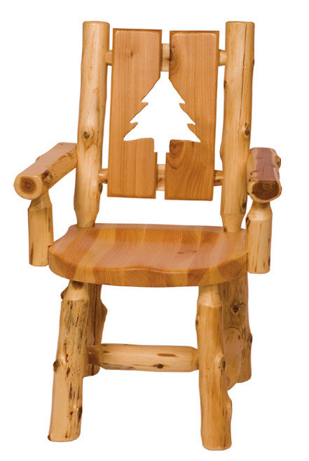 Log Cut-Out Arm Chairs