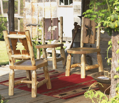 Log Cut-Out Side Chairs
