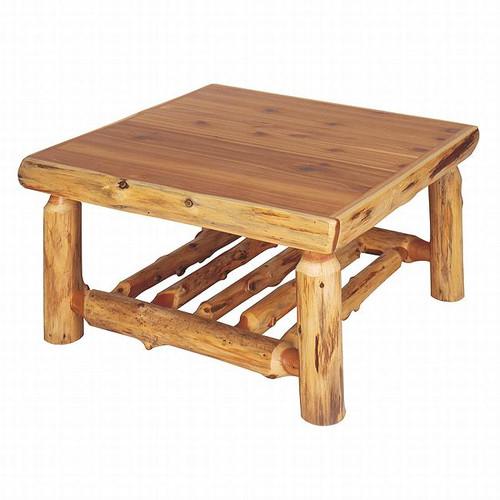 Cedar Log Open Standard Finish Coffee Table