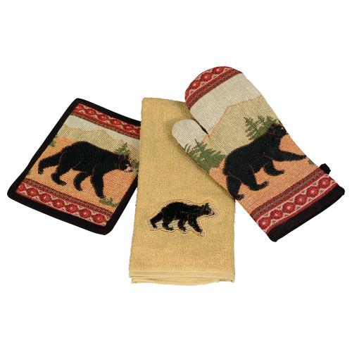 Black Bear Kitchen Linens