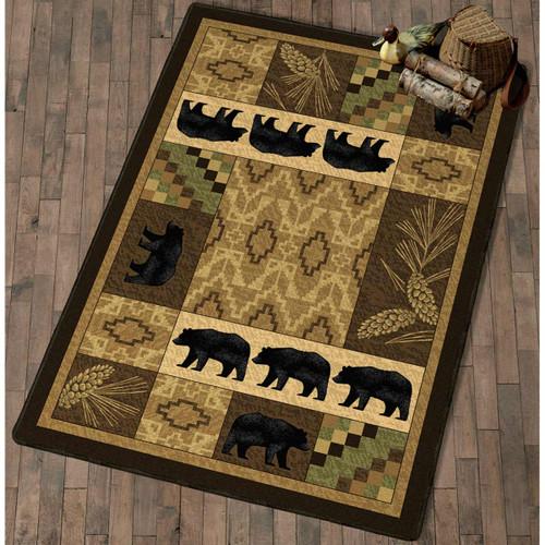 Black Bear Lodge Rug Collection