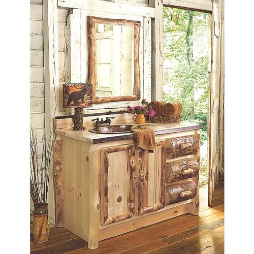 Aspen Log Bathroom Furniture Collection