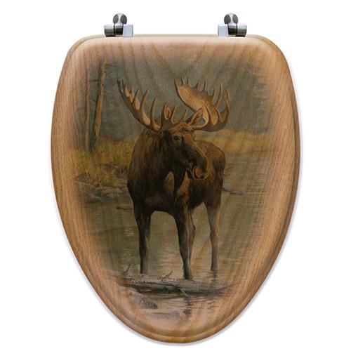 Quiet Water Moose Toilet Seat