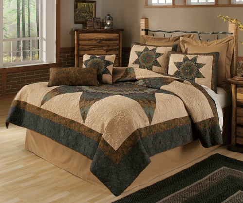 Forest Star Quilt Bedding Collection
