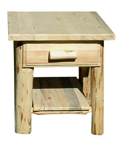 Rustic Nightstand w/ Drawer & Shelf
