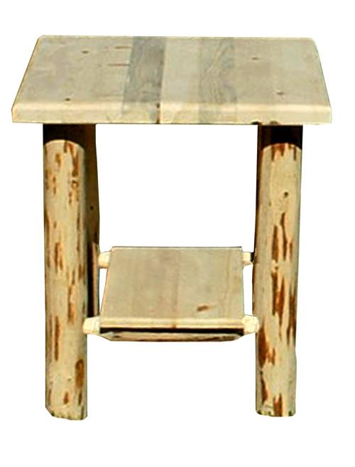Rustic Nightstand with Shelf