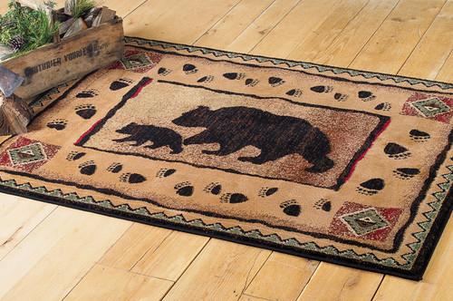 Black Bear Walking Rug Collection