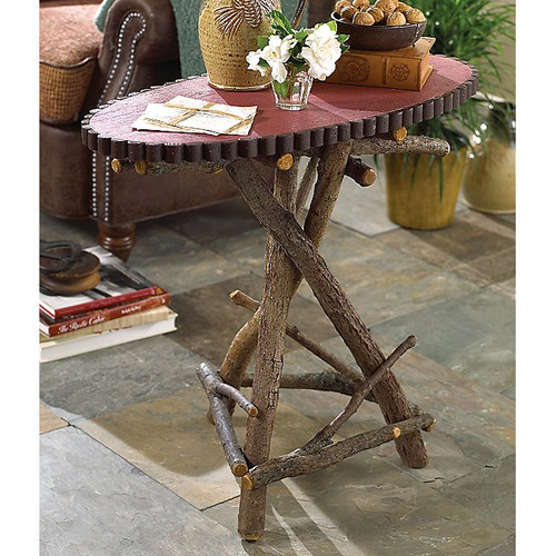 Oval Willow Table