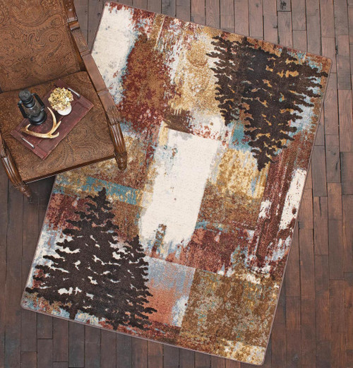Abstract Pines Rug - 8 Ft. Round