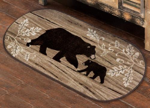 Acorn Bears Oval Bath Rug