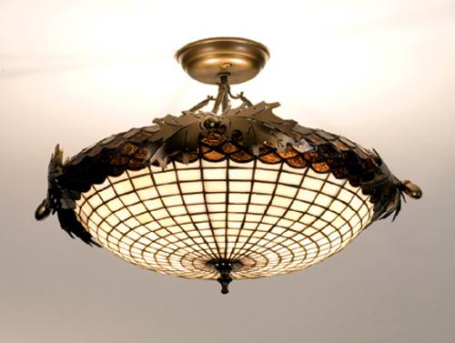 Acorn Semi flush Light Fixture