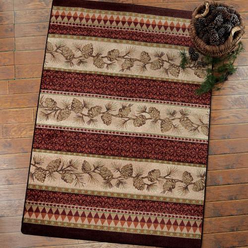 Burnished Pilgrim Pinecone Rug Collection