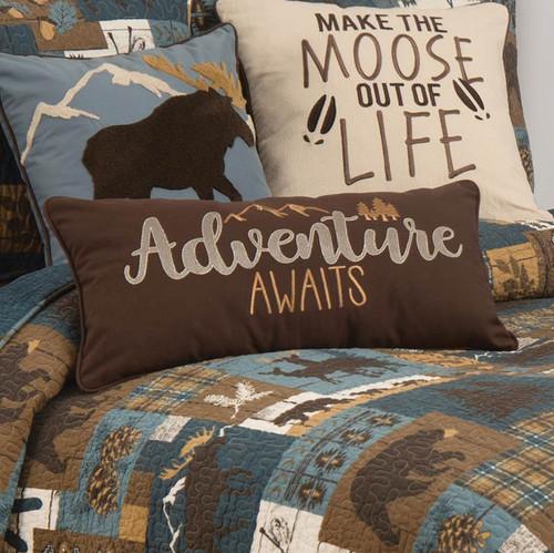 Adventure Awaits Pillow