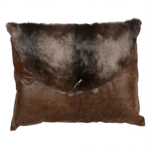 Brown Bear Faux Fur Envelope Pillow