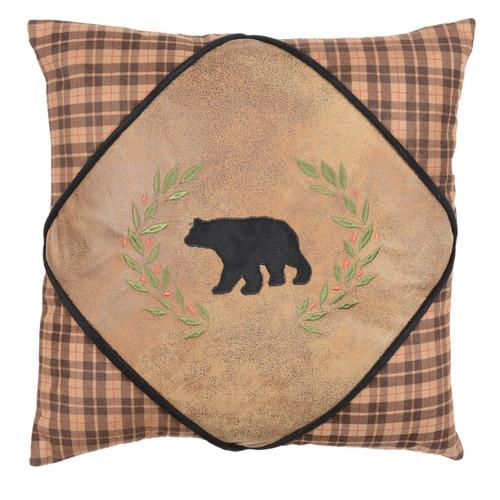 Alpine Bear Diamond Bear Pillow