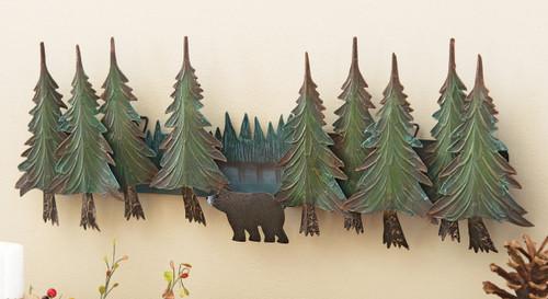 Alpine Bear Metal Wall Hanging