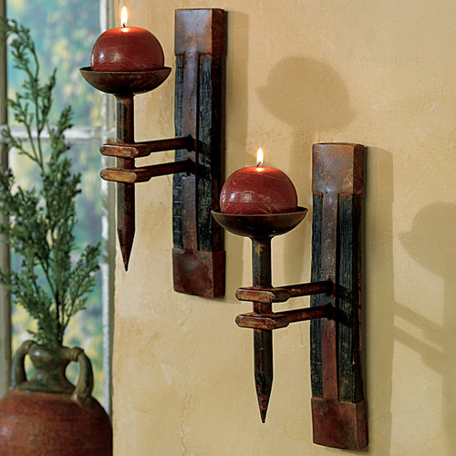 Tequila Barrel Wall Candle Holder - OUT OF STOCK UNTIL 2/27/2022