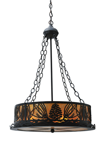 Amber Mica Pinecone Chandelier