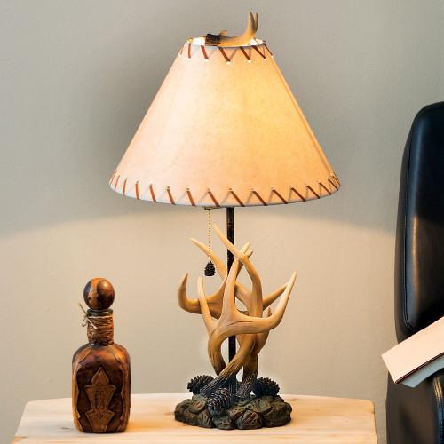 Antler & Pinecone Table Lamp