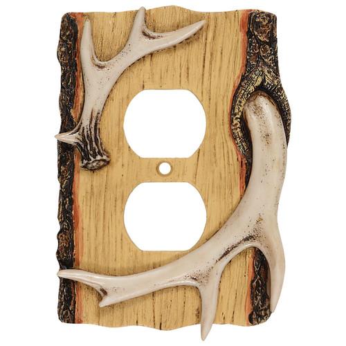 Antler & Wood Outlet Cover