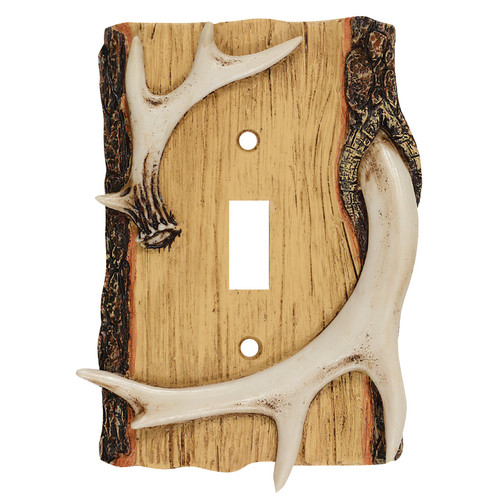 Antler & Wood Single Switch Cover