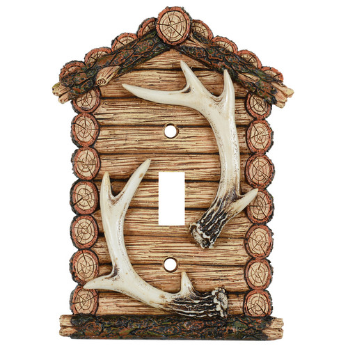 Antler Cabin Single Switch Cover
