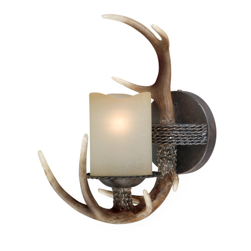 Cast Antler Single Wall Lamp