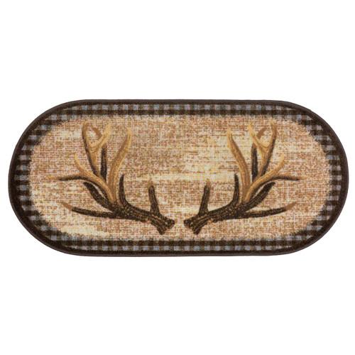 Antlers Oval Bath Rug