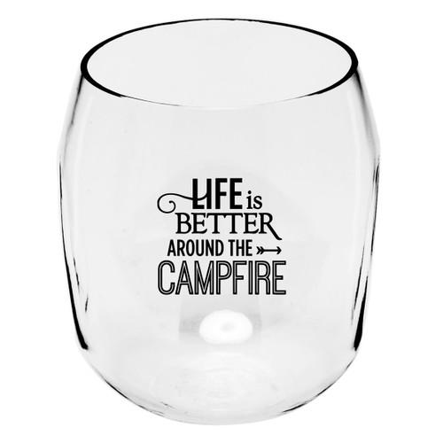 Around the Campfire Wine Tumblers - Set of 4
