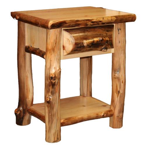 Aspen 1 Drawer Nightstand with Shelf