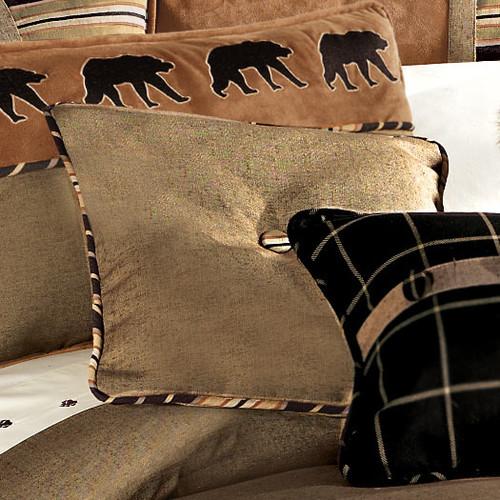 Ashbury Burlap Tufted Pillow