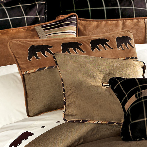 Ashbury Embroidered Bear Pillow