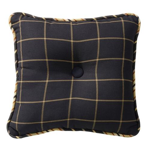 Ashbury Square Plaid Pillow