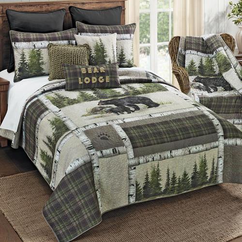 Breckenridge Bear Lodge Quilt Set - Queen