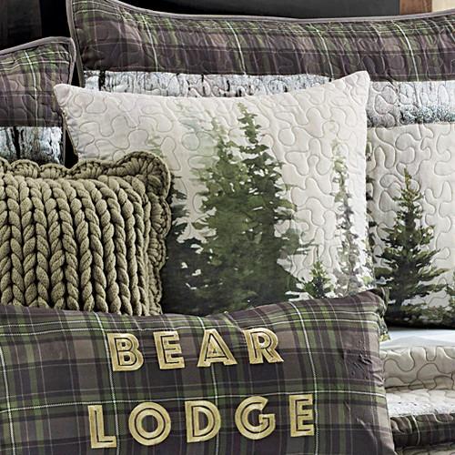 Breckenridge Bear Lodge Tree Pillow