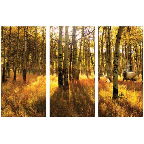 Aspen Elk Triptych Wall Hanging