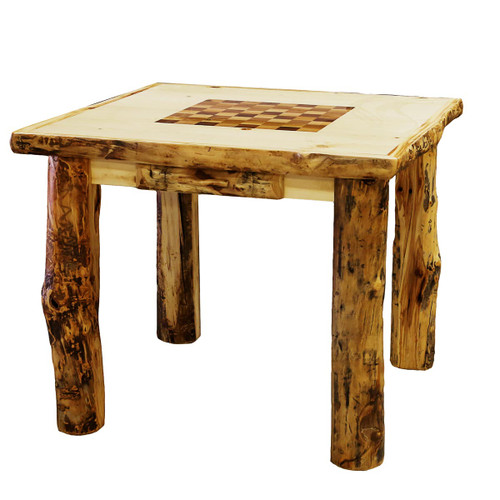 Aspen Game Table with Built in Checkerboard