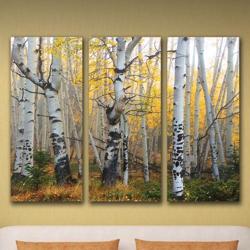 Aspen Sunrise Triptych Personalized Wall Art (3 pcs)