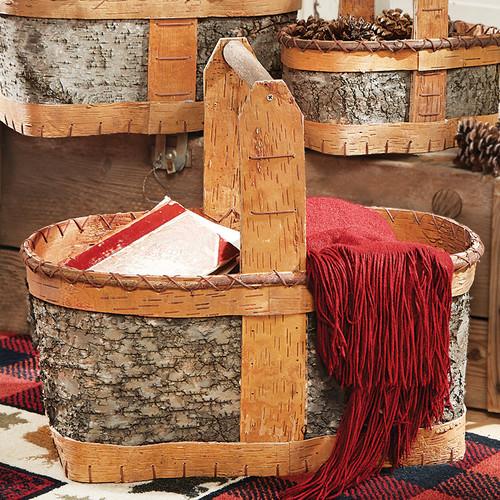 Authentic Birch Basket - Large