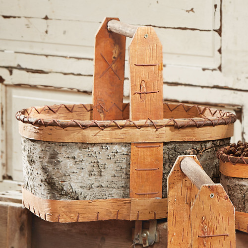 Authentic Birch Basket - Medium