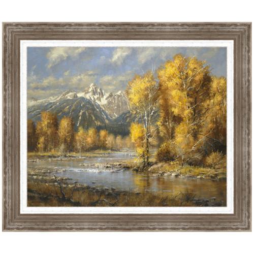 Autumn Brook Framed Canvas