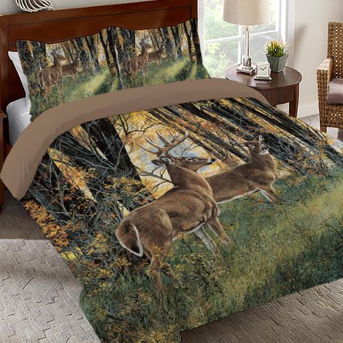 Autumn Forest Scene Comforter Set - King