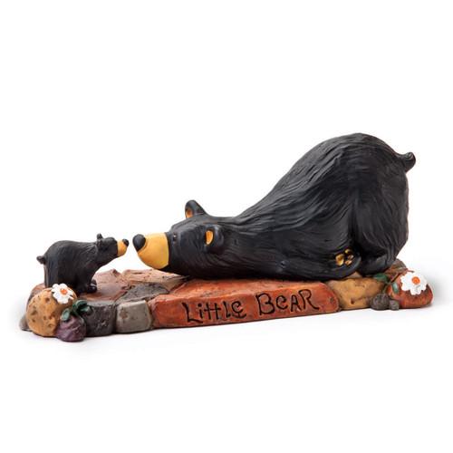 Baby Bear Kiss Figurine