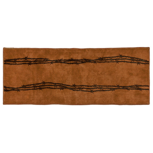 Barbed Wire Tan Bath Runner
