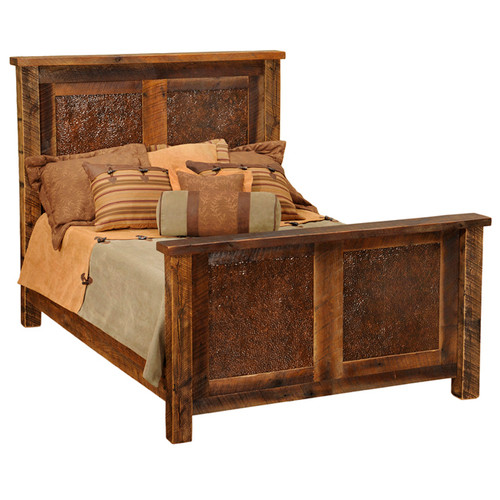 Barnwood Copper Inset Bed - Cal King