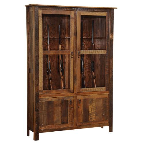 Barnwood Gun Cabinet with Barnwood Legs - 12 Gun