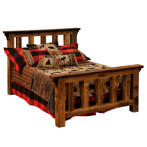 Barnwood Post Complete Bed - Cal King