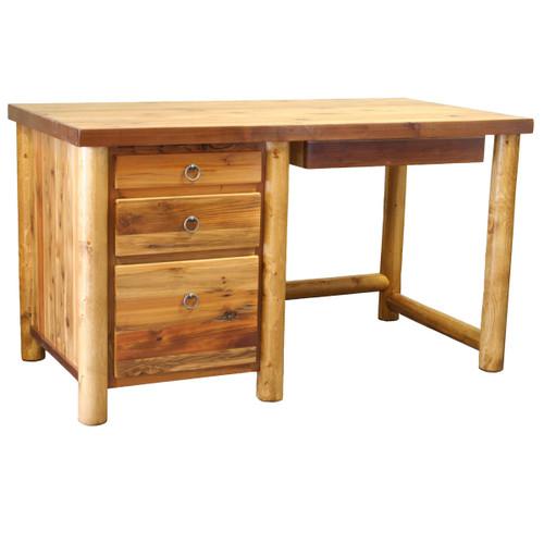 Barnwood Round Leg Open Student Desk